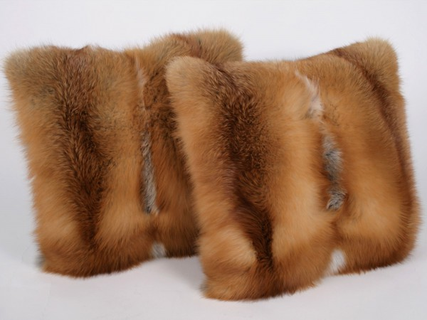 Canadian red fox pillow