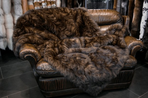 Russian Sable Sides Fur Blanket