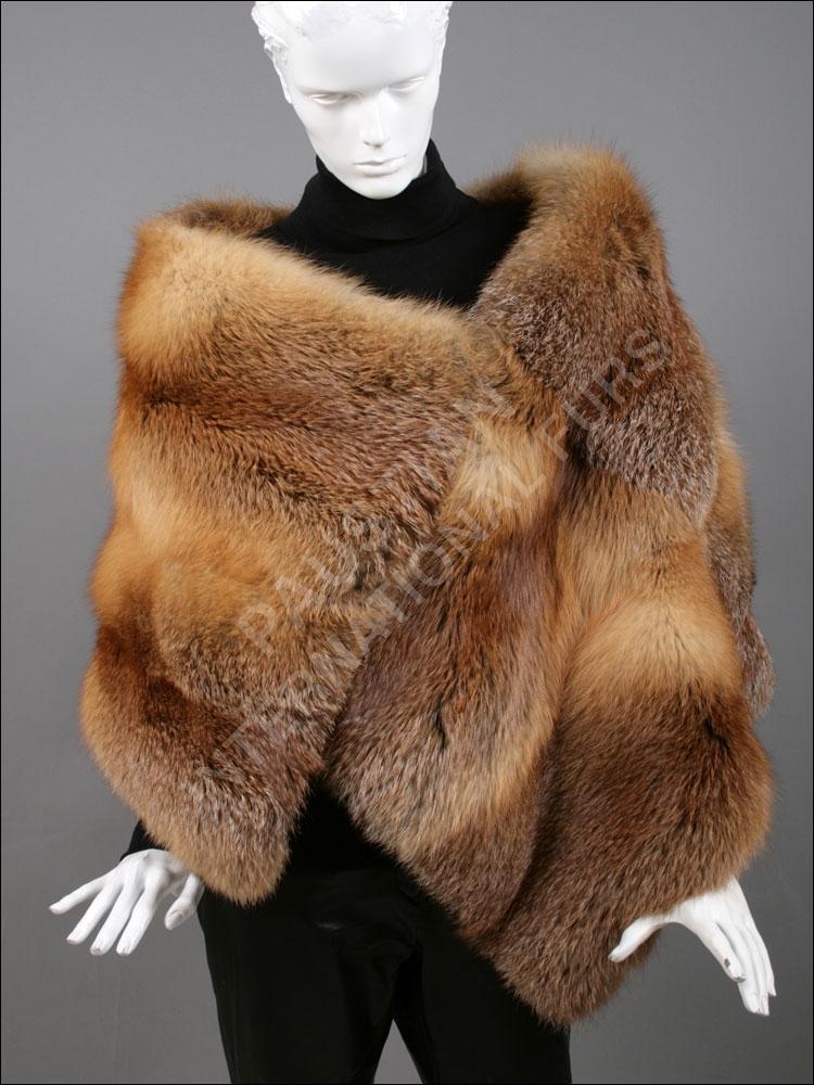 European red fox fur stole paustian furs - Stoel fur ...