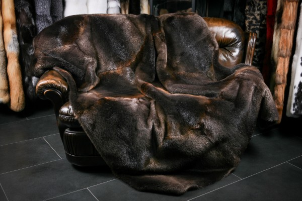 Fur blanket from canadian beaver skins