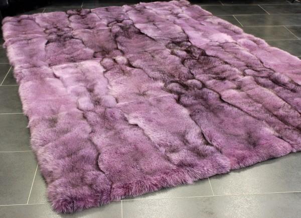 Fox Fur Carpet in pink