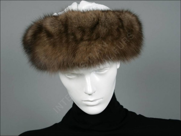 Fur headband made of russian bargusin sable furs