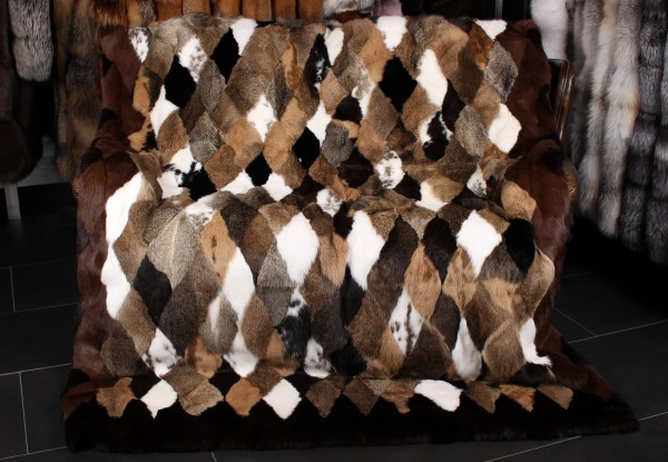 Real Fur Blanket Rabbit Skins