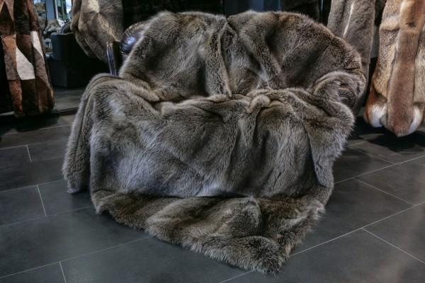 Canadian Raccoon fur blanket