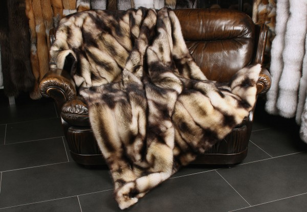 Fitch fur blanket in natural colour
