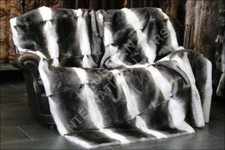 Rex Rabbit Fur Blanket Rex Rabbit Fur Throw in