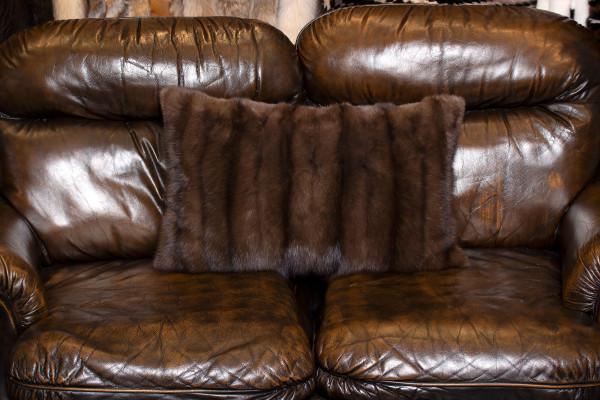 Genuine Sable Fur Cushion