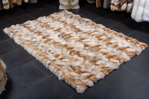 Real Fur Carpet made of Canadian Coyote