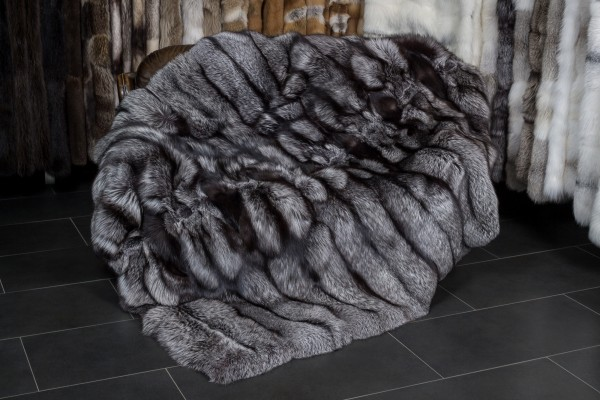 Large Silver Fox Throw with special processing