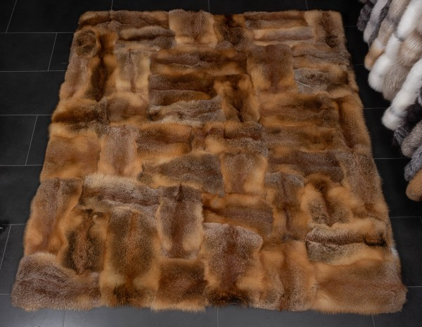 "Fur Carpet made of European Red Fox ""Patchwork"""