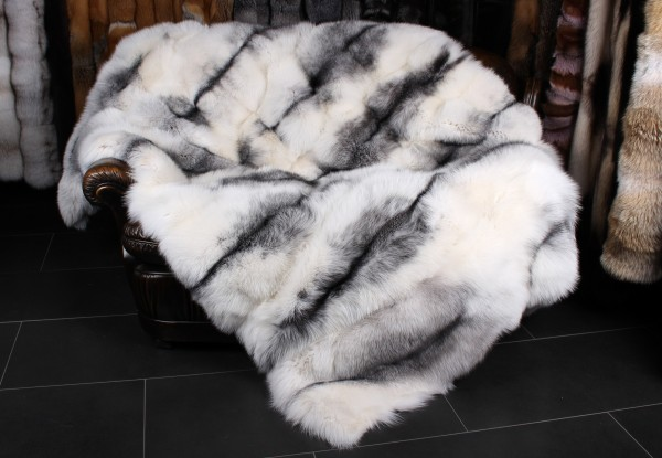 Manta de zorro escarcha azul sombra - Estilo de mármol ártico