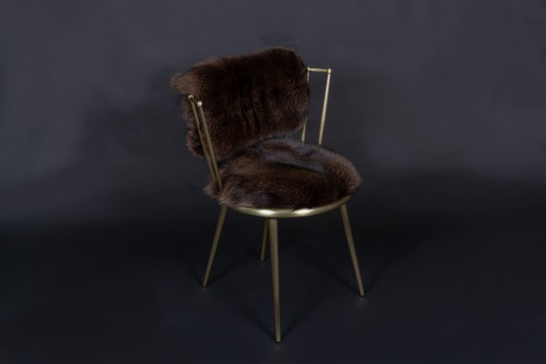 Blue Frost Fox Chair in Brown