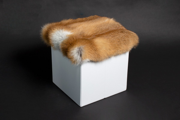 Real European Red Fox Fur Rest Seat