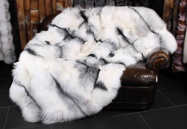 SAGA Arctic Marble Fox Fur Blanket