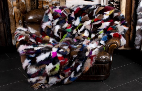 Multicolor Fur Blanket from Blue Fox Pieces