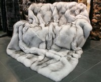 SAGA Blue Fox Fur Blanket - Natural