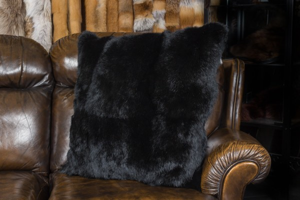 Long haired rabbit fur pillow