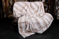 Palomino Cross Mink Fur Blanket from Genuine Fur