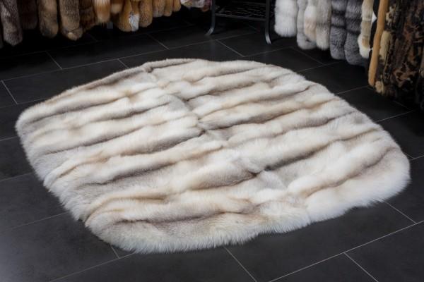 Fawnlight Fox Fur Rug - Round Shape