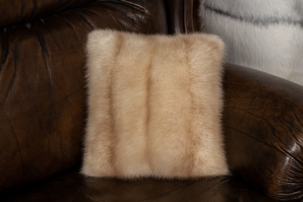 Small Gold Sable Fur Pillow