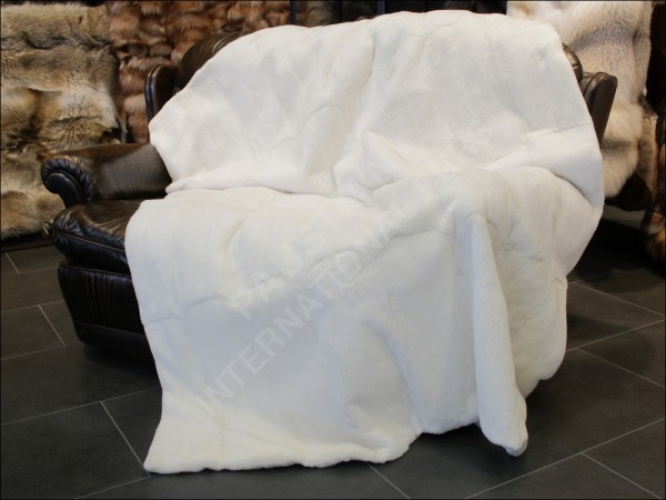 Double sided plucked SAGA Mink Fur Blanket -(Origin Assured)