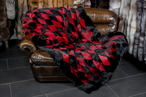 Fur Throw made with Rabbit pelts