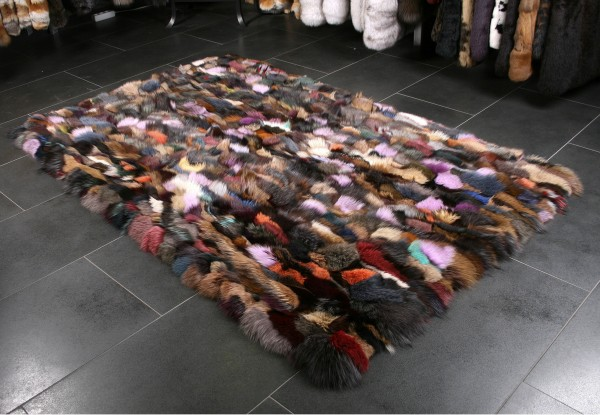 Multicolor Fur Carpet