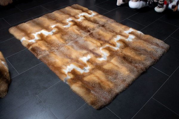 European Red For Fur Carpet - Genuine Fur