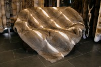 Natural Rabbit Fur Blanket - rabbit-coloured