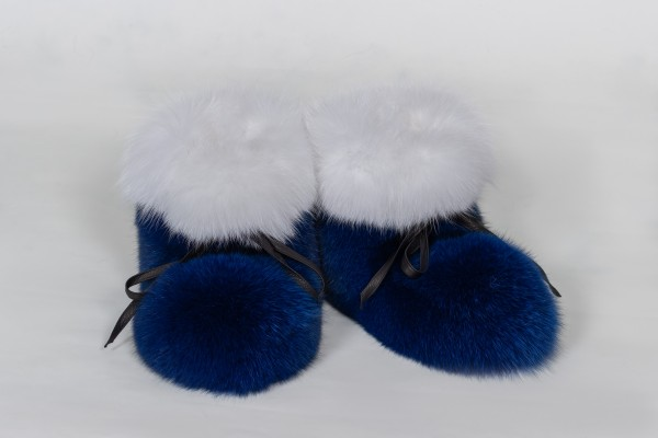 Fur Boots Bluefox Shadowfox Real Fur