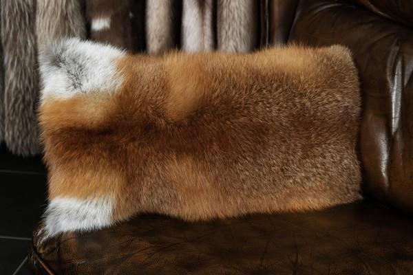 European Red Fox Fur Pillow