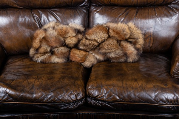 Decorative Red Fox Fur Cushion - Wild Fur