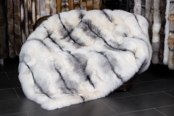 Shadow Blue Frost Fox Throw - SAGA Furs