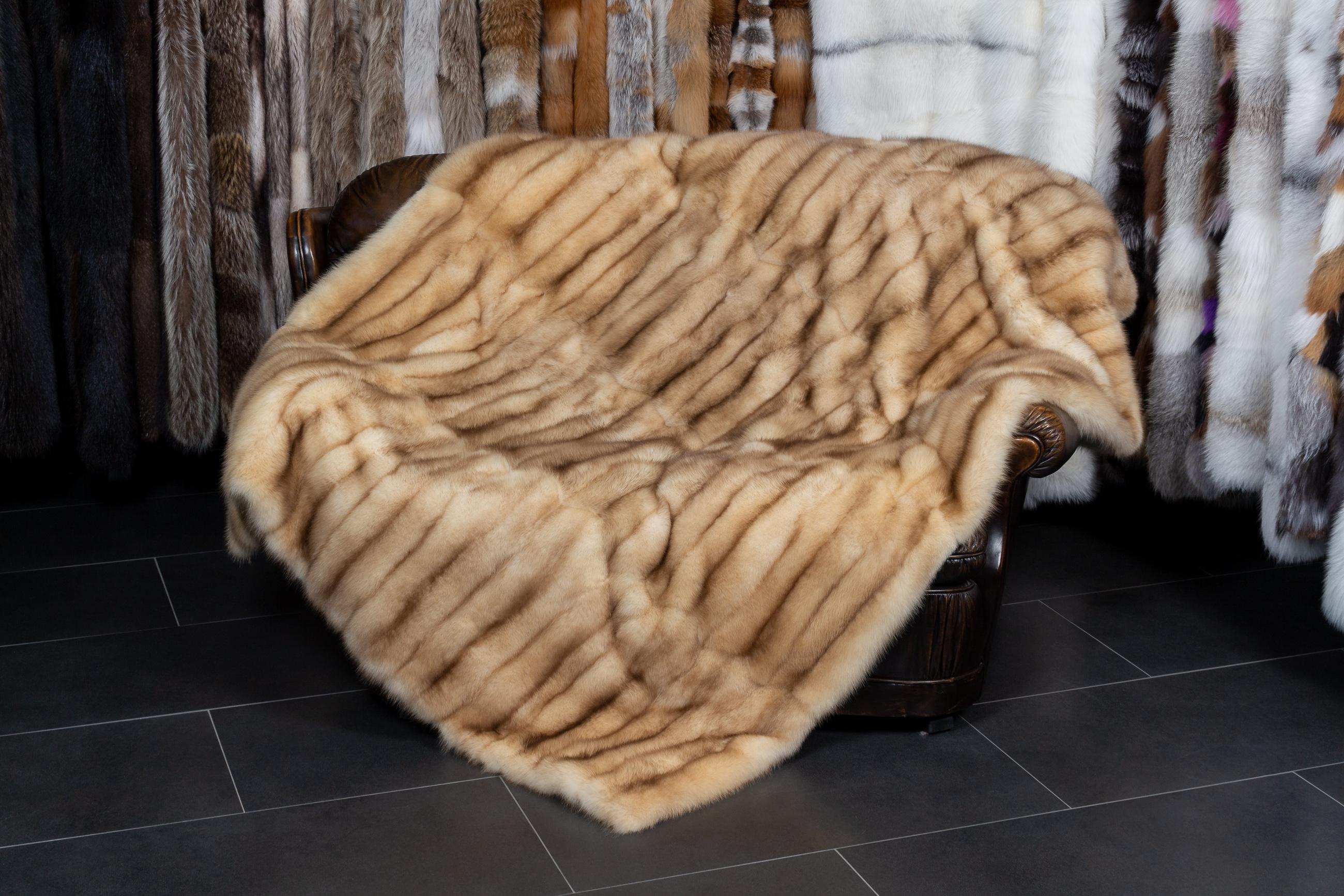 Precious Fur Blankets Made From Russian Barguzin Sable