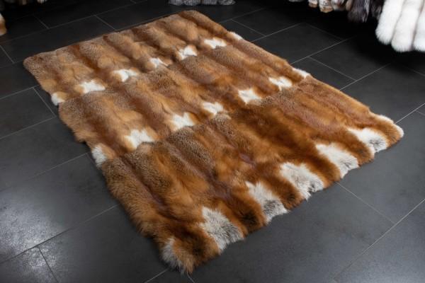 European Red Fox Fur Rug - Natural Color