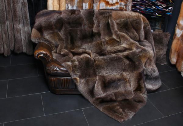 Canadian Raccoon Fur Blanket Patchwork