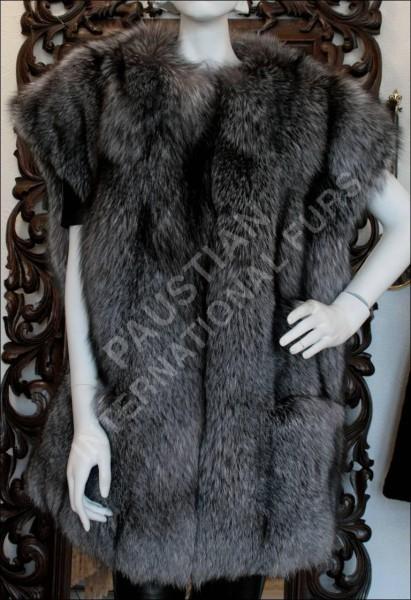 220 SAGA blue frost fox fur waistcoat