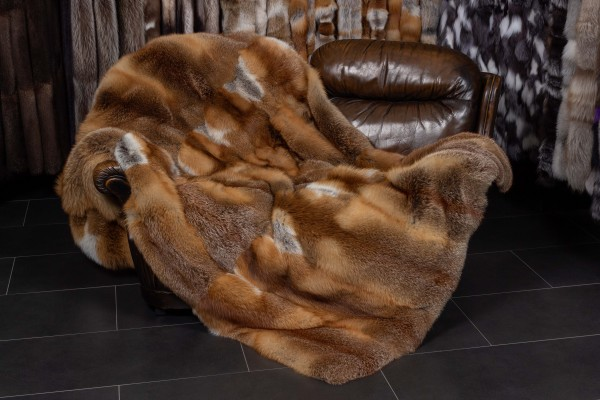 European Red Fox Fur Throw