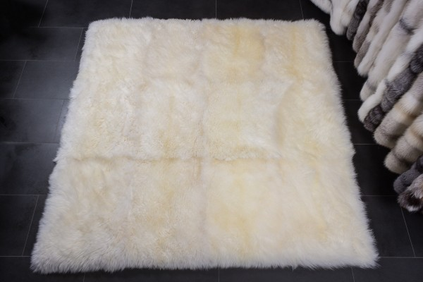 Australian Lamb Fur Carpet natural white