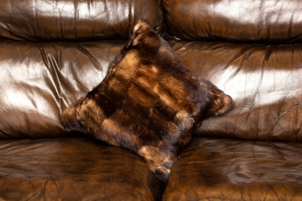Fitch Fur Sides Pillow - Genuine Fitch Fur