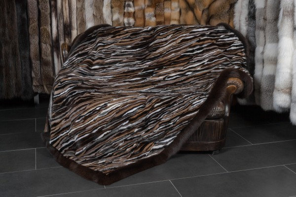 Scandinavian Mink Sides Fur Throw
