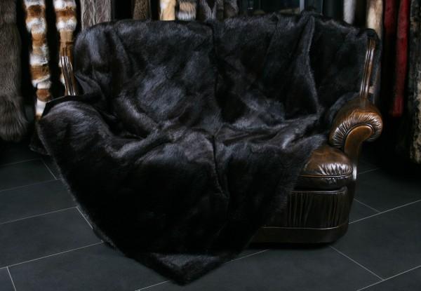 Musquash fur blanket from canadian musquash skins (Fur Harvesters)