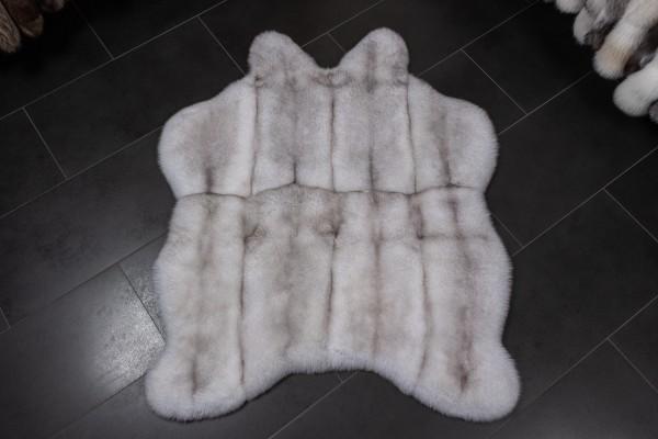 "Blue Fox Real Fur Carpet ""Natural Shape"""