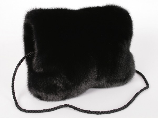 SAGA mink fur muff - with fur on both sides