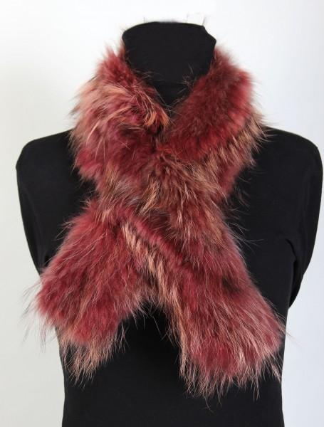 Canadian Raccoon Fur Shawl in Pink