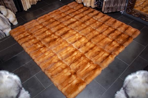 Canadian Red Fox Fur Carpet in XXL