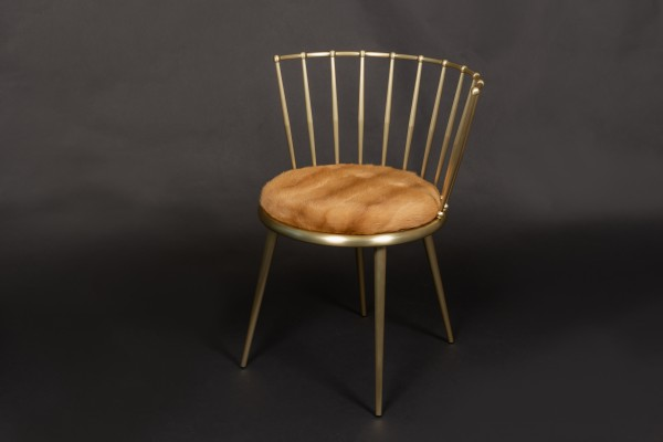 Kolinsky Real Fur Chair