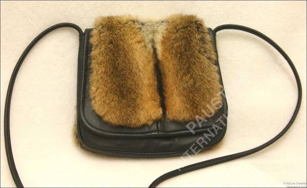 149 Fur handbag made of 100% genuine leather and hamster furs