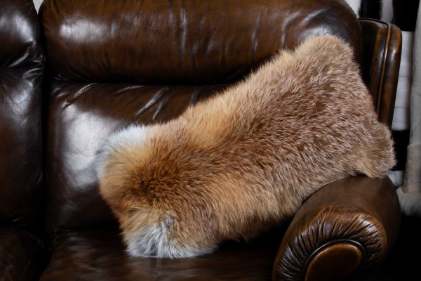 European Red Fox Fur Cushion