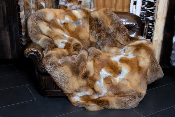 European Red Fox Fur Throw